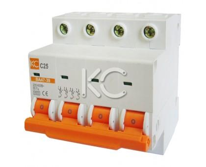 Автоматический выключатель ВА 47-39 (25А 4р С)