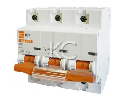 Автоматический выключатель ВА 47-100 ( 80А 3р D)