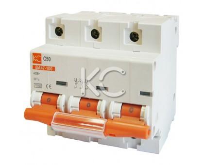 Автоматический выключатель ВА 47-100 ( 80А 3р С)