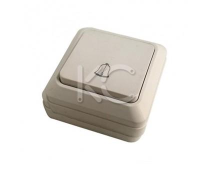 Звонковый выключатель КЗ, ОП, 10А, белый Дабрабыт