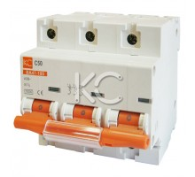 Автоматический выключатель ВА 47-100 ( 63А 3р С)