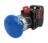 Кнопка АЕА-22 (Грибок синий,  1з+1р)