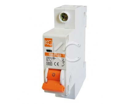Автоматический выключатель ВА 47-39 (4А 1р В)