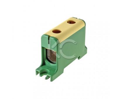 Клемма вводная силовая КВС 35-150 желто-зеленая